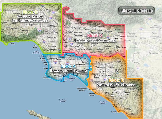 San Fernando Zip Code Map | Time Zones Map